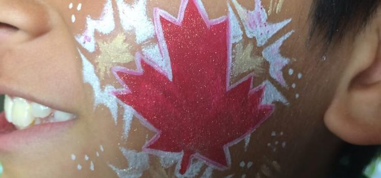 Canadaday Facepainting