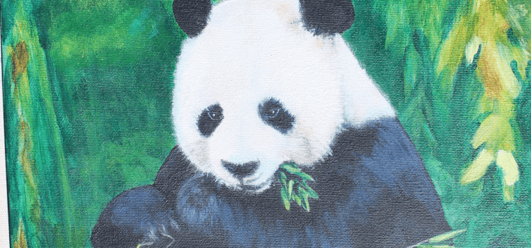 Panda Painting By Hang
